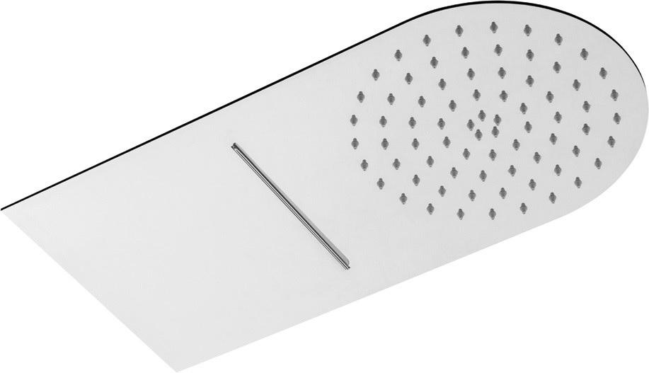 Душ пита метална масивна 25x50 см. обла с каскада Drop, Италия
