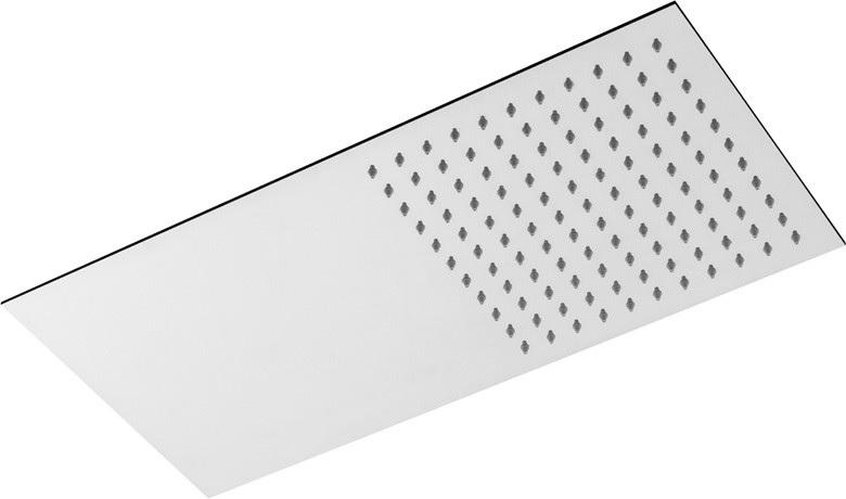 Душ пита метална масивна 25x50 см. правоъгълна Drop, Италия