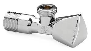 Ъглов спирателен кран 1/2 X 1/2 (еквентил)   метална ръкохватка 140049C0404Z0A   General Fittings Италия
