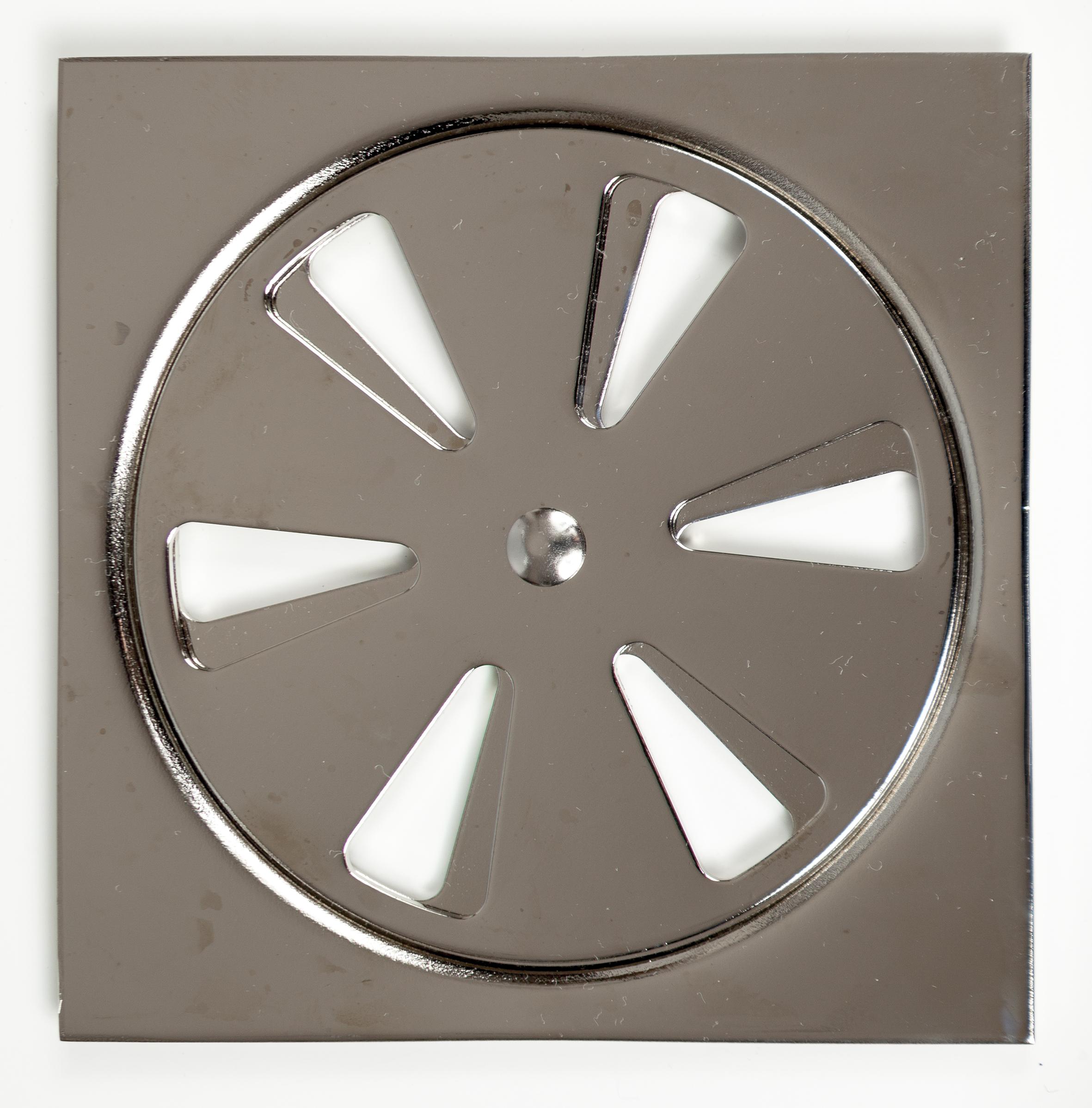 Декоративна плочка с решетка със затваряне за подов сифон за баня 100x100 мм Танушев България