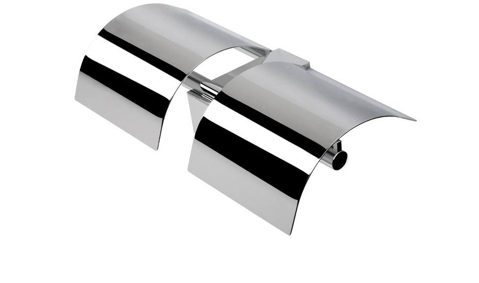 Държач за WC хартия двоен с капаци