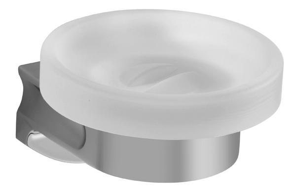 Стъклена сапунерка с държач
