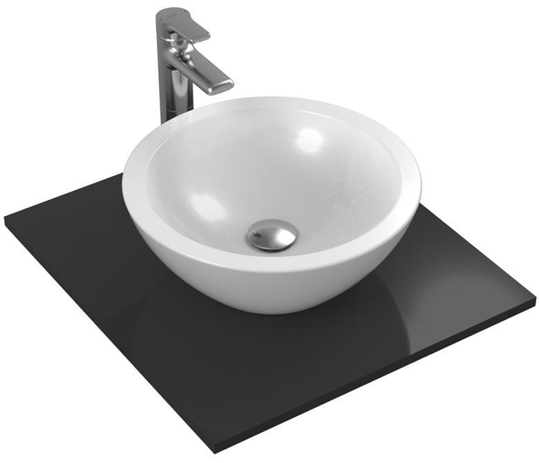 """""""О"""" кръгла мивка за монтаж върху пло 42х42 см"""