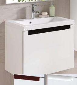 Kонзолен шкаф с мивка Serenity, 60 см., цвят бял, Elita (Royo Group)