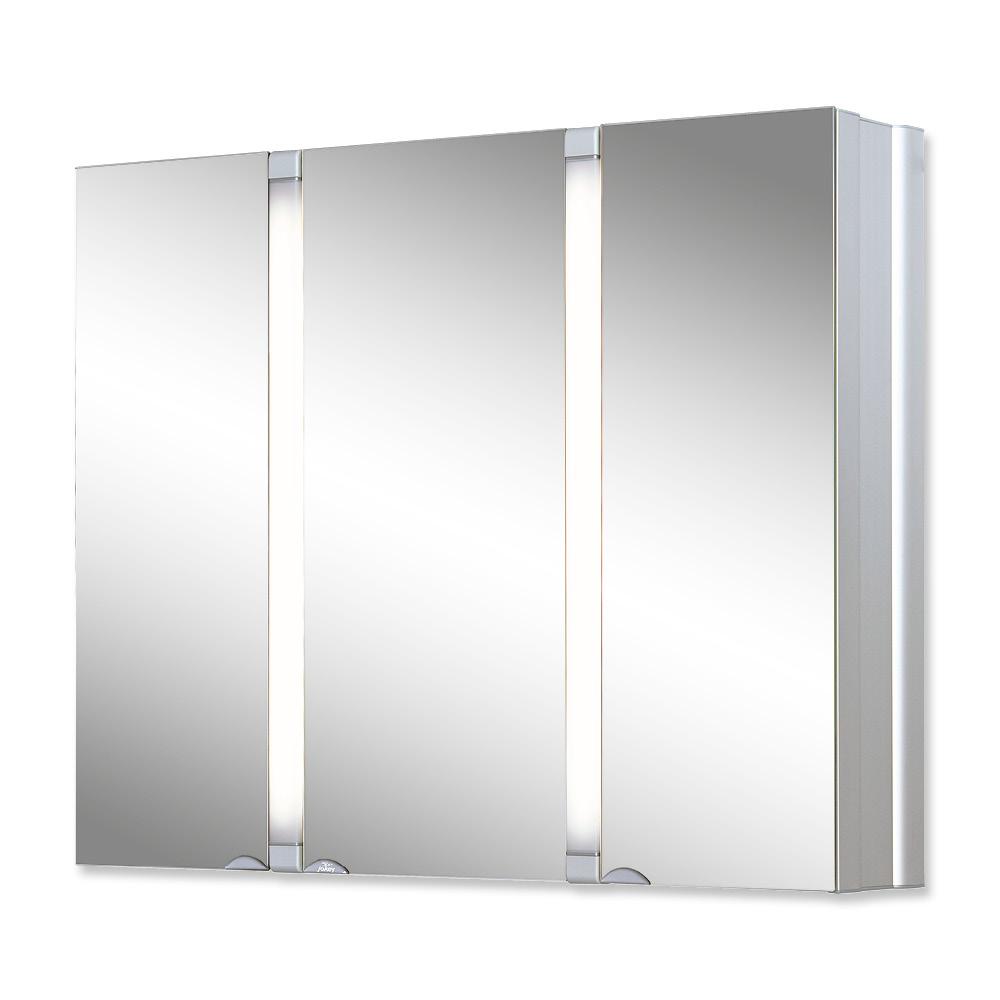 Горен шкаф огледало Саналу с осветление алуминий 80X65X17 см.