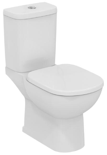 WC комплект, хоризонтално оттичане, казанче със странично водоподаване