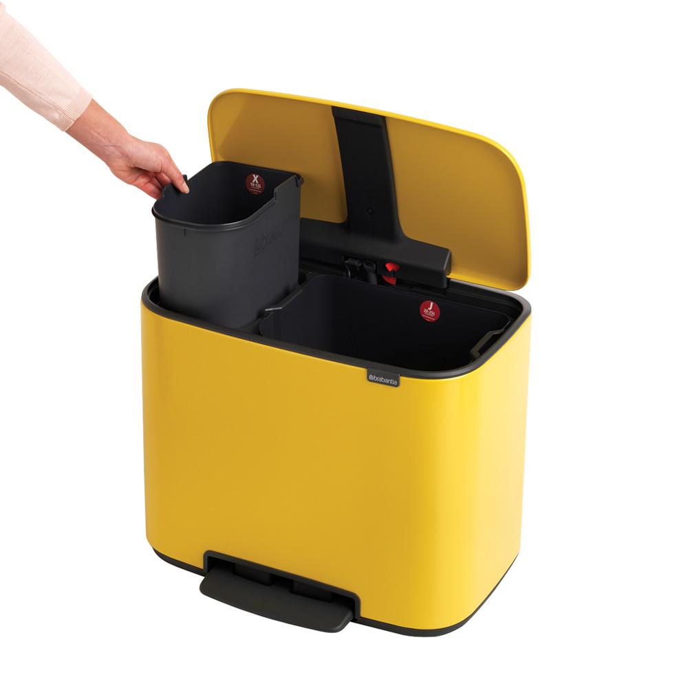 Кош Brabantia Bo Pedal Bin, 11/23L, Yellow