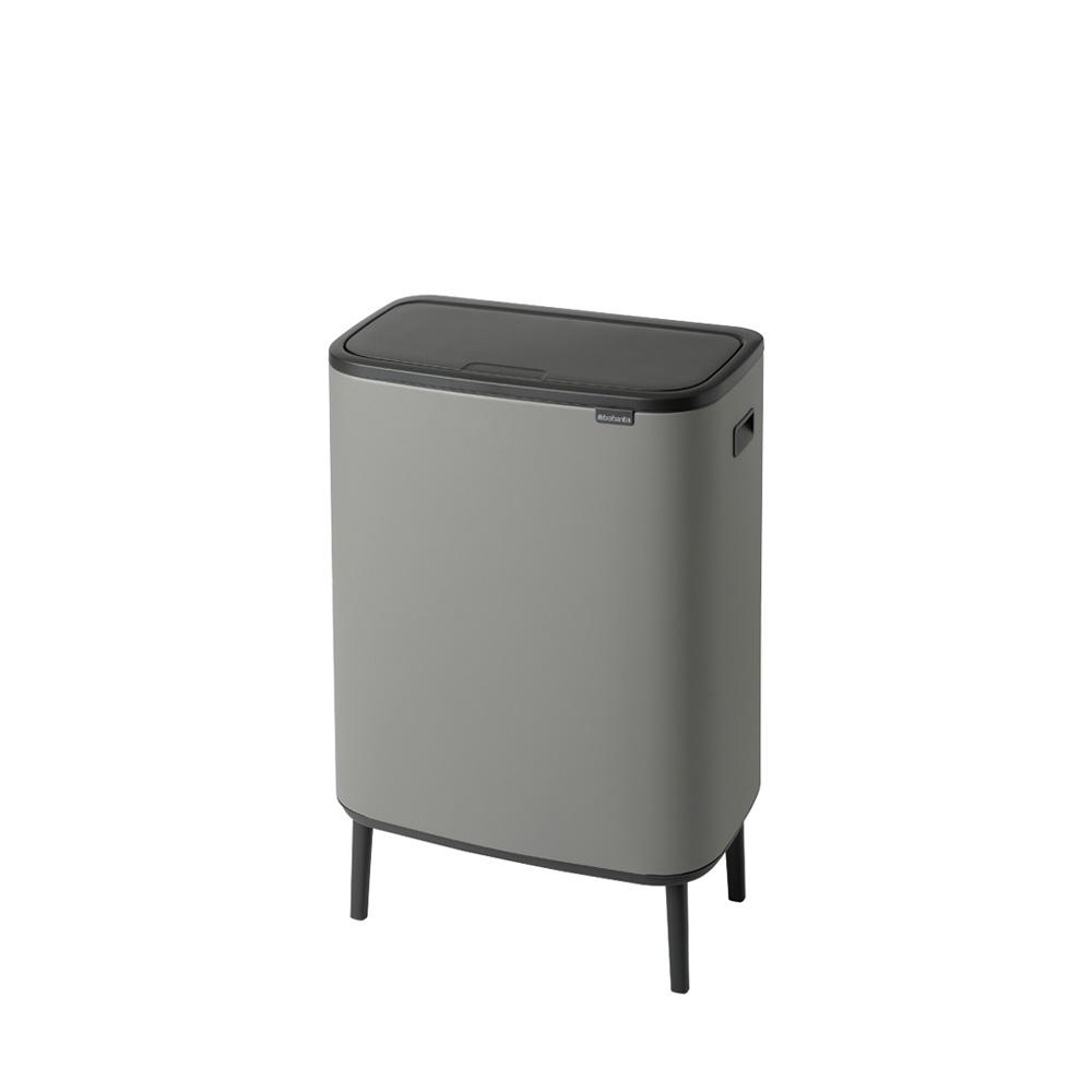 Кош Bo Touch Hi, 2 x 30 litre, Plastic Buckets Mineral Concrete Grey