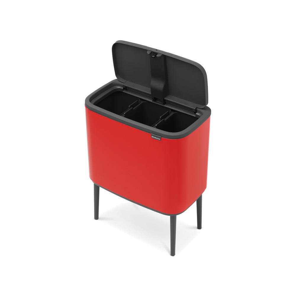 Кош Brabantia Bo Touch 3x11L Passion Red