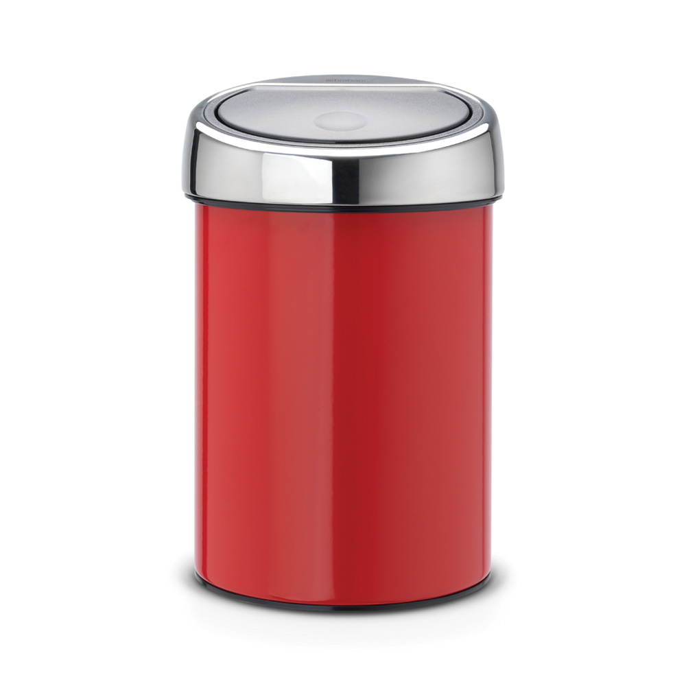 Кош за смет TOUCH, 3 L Brabantia Passion Red