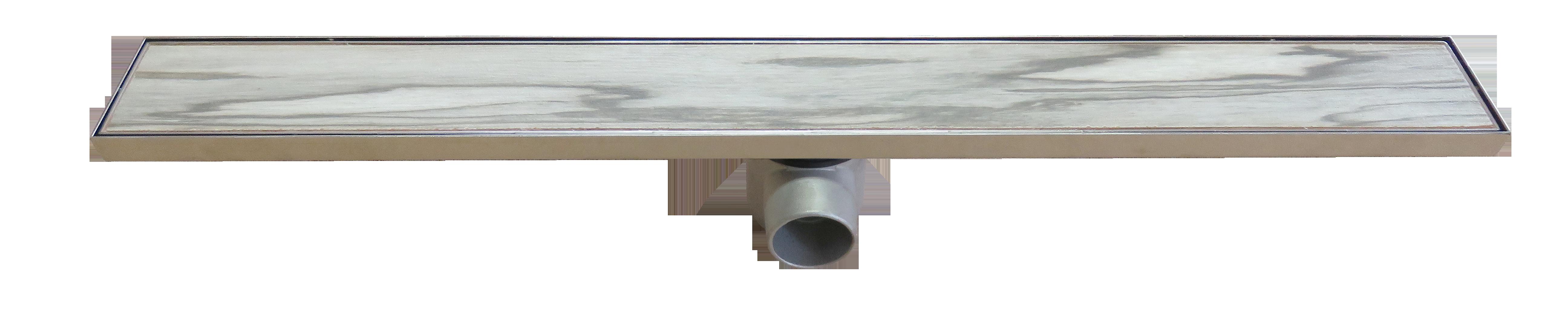 Подов линеен сифон за баня 840мм предназначен за вграждане на плочка или стъкло