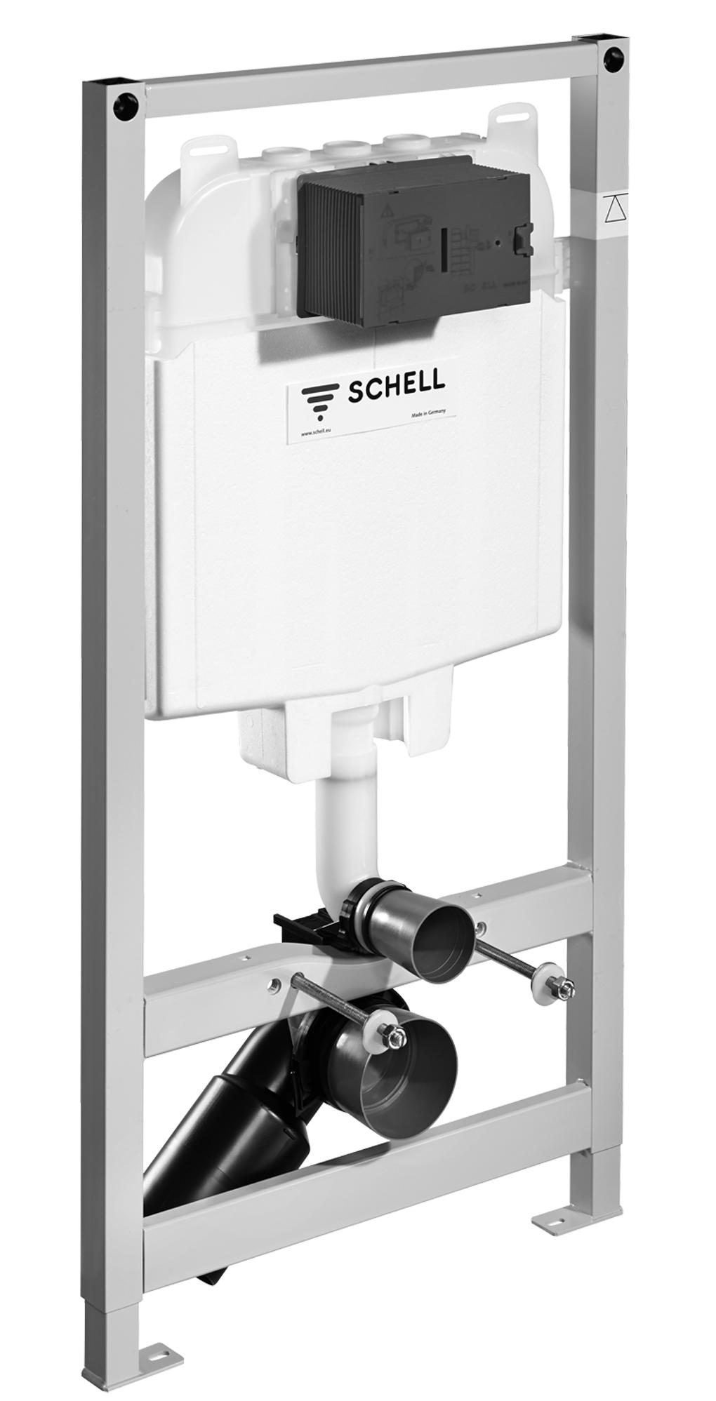 Структура за вграждане Montus C80 с бутон Linear Round хром, Schell