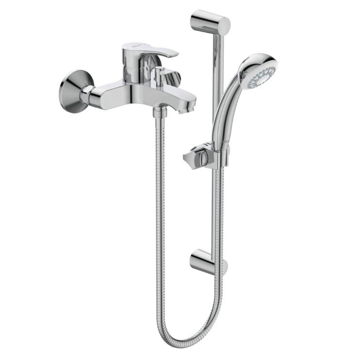 Смесител стенен за вана/душ с аксесоари