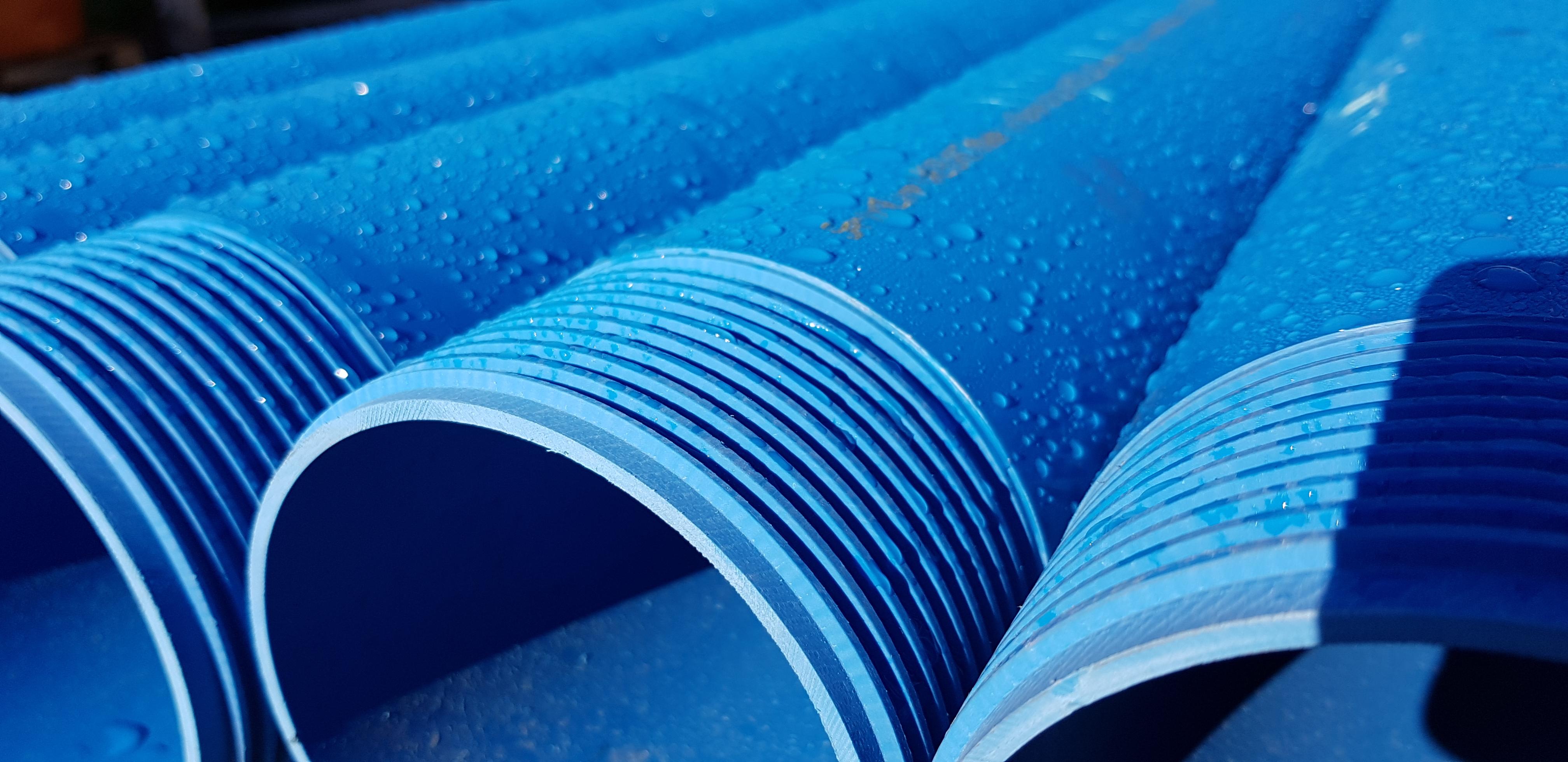 PVC Тръба за сондаж, плътна R10 D.180 x 8,6 L=5m