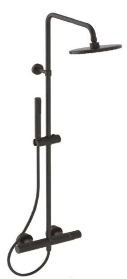 Ceratherm T25 Душ система с термостатен смесител, черен мат