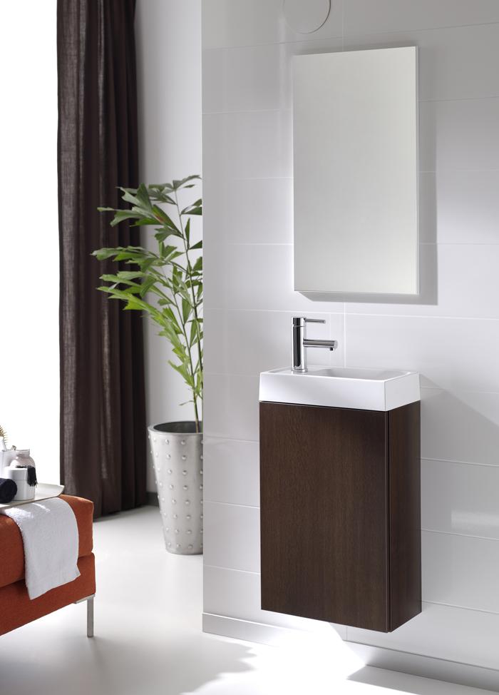 Комплект конзолен шкаф с мивка + огледало Young, Цвят венге, Elita (Royo Group)